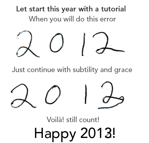 Learn to avoid the typing mistake, 2013 is not 2012